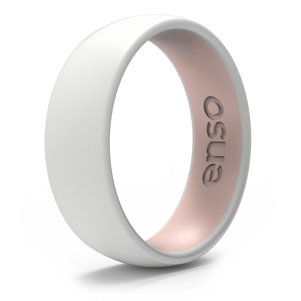 Dual Tone Silicone Ring White / Pink Sand