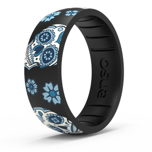 Enso Exclusive Silicone Ring Sugar Skull Black