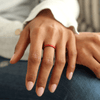 Birthstone Classic Halo Silicone Ring Ruby Lifestyle