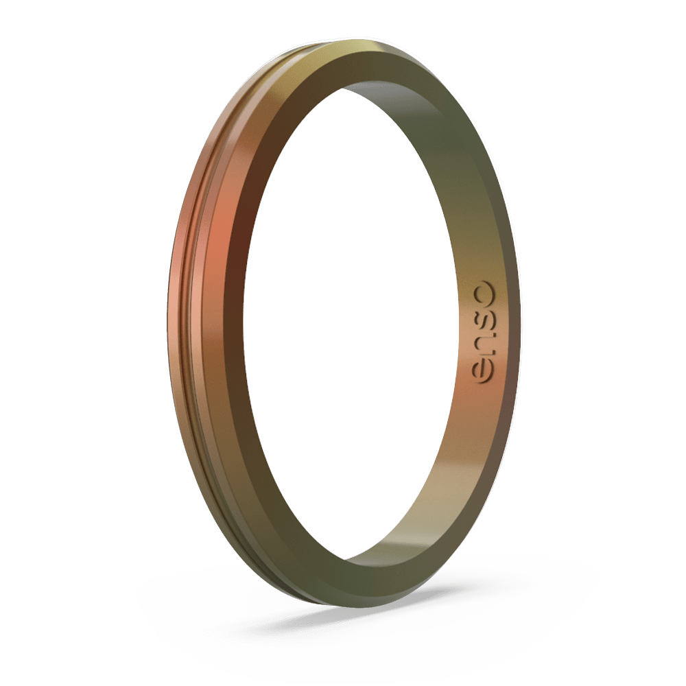 Legends Contour Halo Silicone Ring - Poseidon