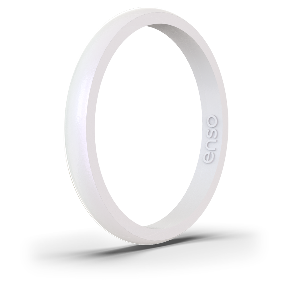 Birthstone Classic Halo Silicone Ring Moonstone