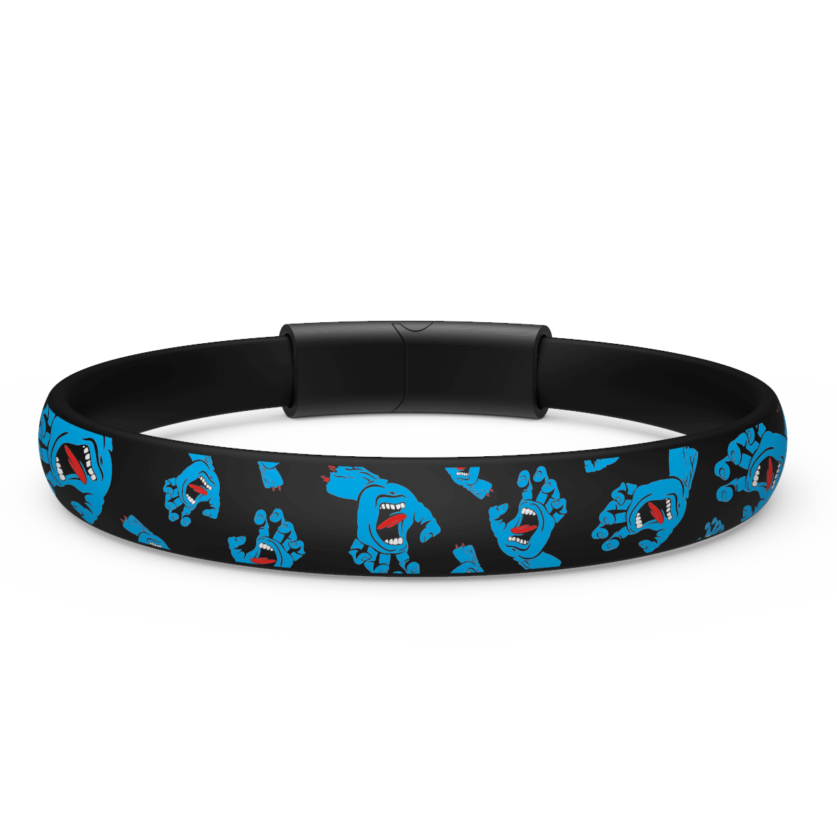 Santa Cruz Silicone Bracelet - Hands Allover
