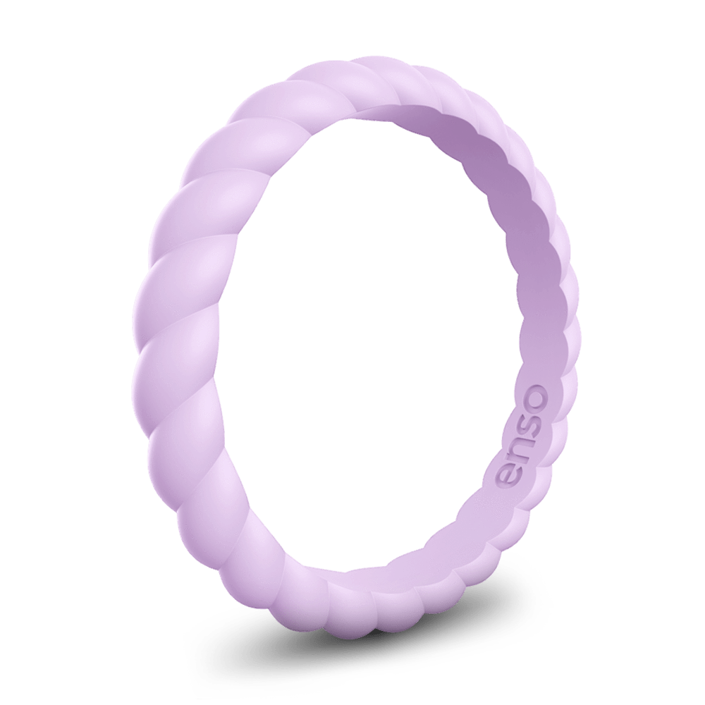 Braided Stackable Silicone Ring Lavender