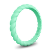 Braided Stackable Silicone Ring Mint Green