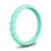 Braided Stackable Silicone Ring Turquoise