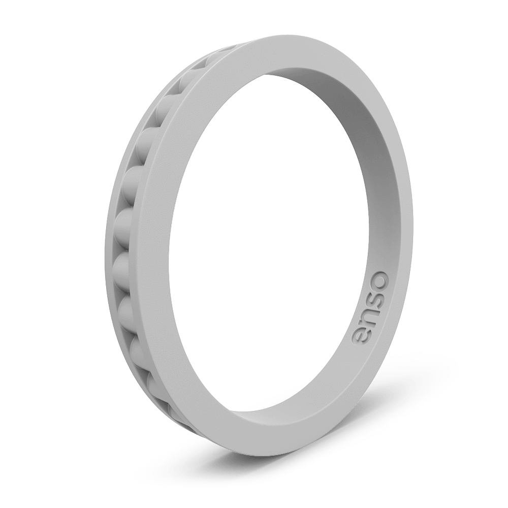 Column Stackable Silicone Ring Misty Grey