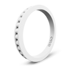 Column Stackable Silicone Ring White