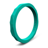 Hammered Stackable Silicone Ring Caribbean