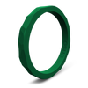 Hammered Stackable Silicone Ring Emerald