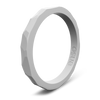 Hammered Stackable Silicone Ring Grey