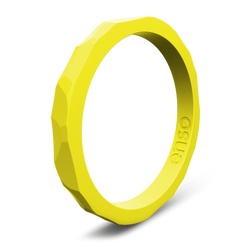 Hammered Stackable Silicone Ring Maize