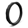 Hammered Stackable Silicone Ring Obsidian
