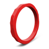 Hammered Stackable Silicone Ring Red