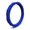 Hammered Stackable Silicone Ring Royal Blue