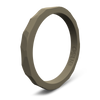 Hammered Stackable Silicone Ring Stone