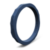 Hammered Stackable Silicone Ring Storm Blue