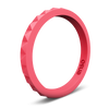 Pyramid Stackable Silicone Ring Coral