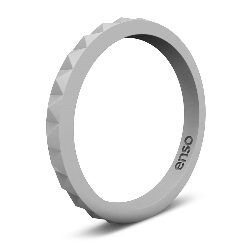 Pyramid Stackable Silicone Ring Misty Grey