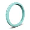 Pyramid Stackable Silicone Ring Turquoise
