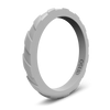 Treaded Stackable Silicone Ring Misty Grey