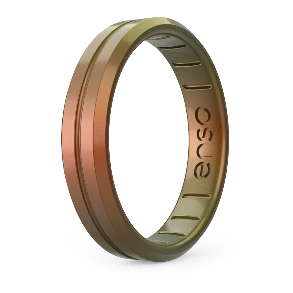 Legends Contour Thin Silicone Ring - Poseidon