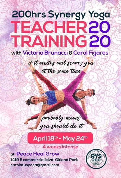 Synergy Yoga Teacher Training 2020 June 15th- July 25