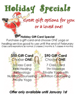 Holiday Specials- Give the gift of Healing