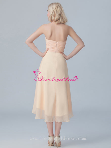 hi-lo-bridesmaid-dresses-with-flower-sash