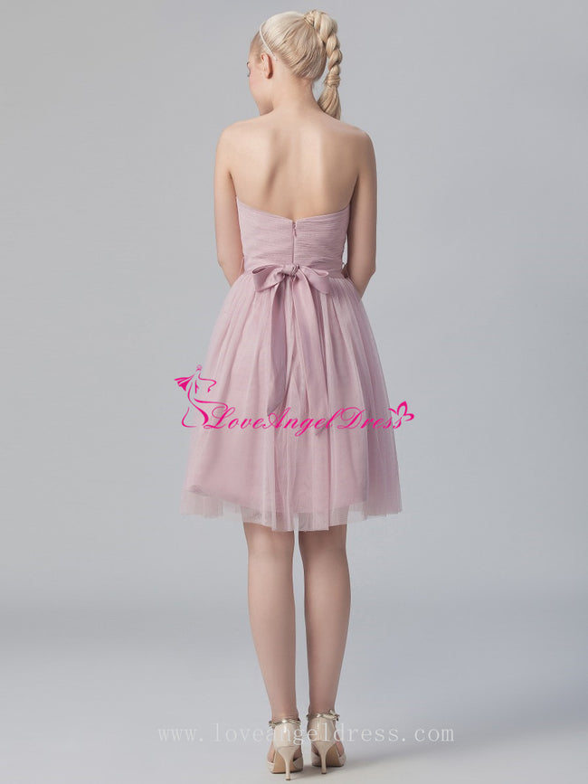 tulle-short-wedding-guests-dresses-with-belt