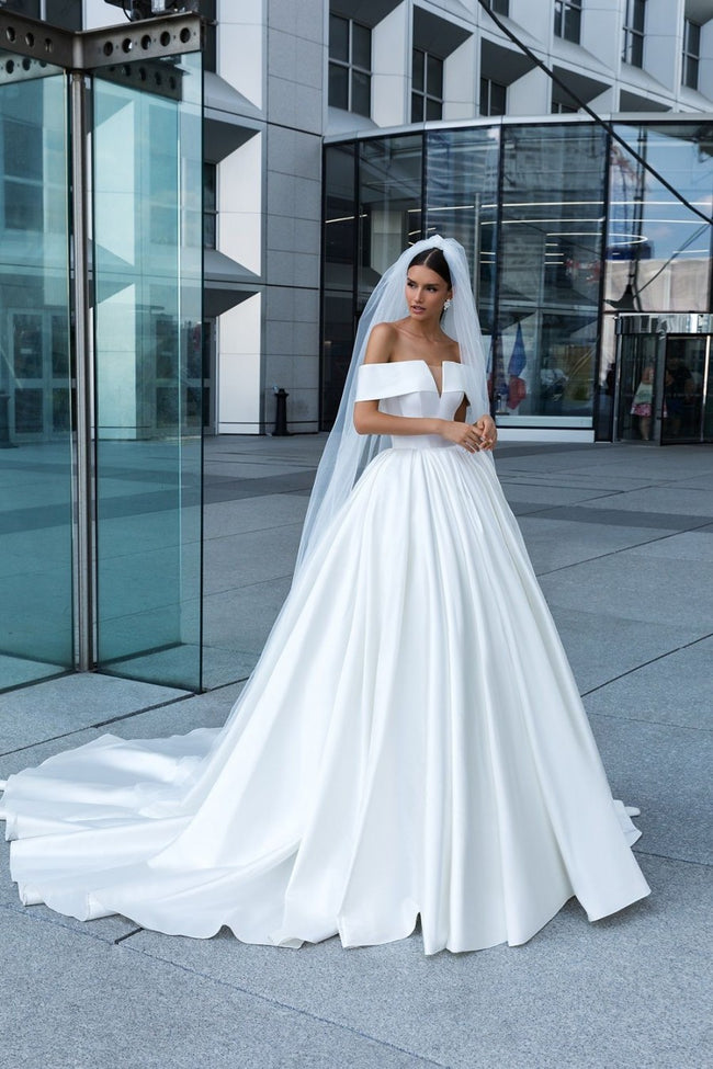 2019-white-satin-wedding-dress-with-off-the-shoulder-1