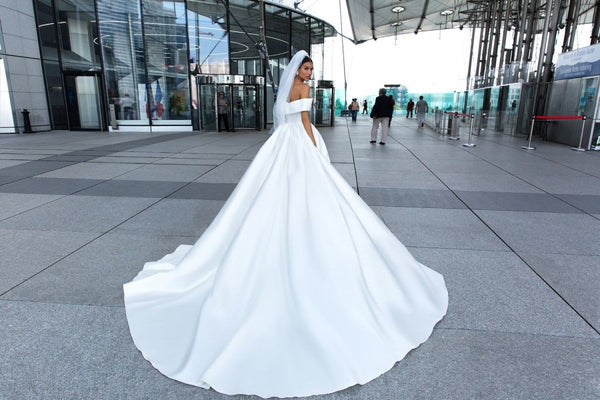 2019-white-satin-wedding-dress-with-off-the-shoulder-2