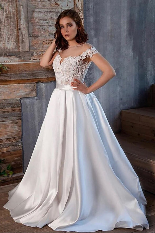 2020-lace-satin-wedding-gown-with-illusion-capped-sleeves