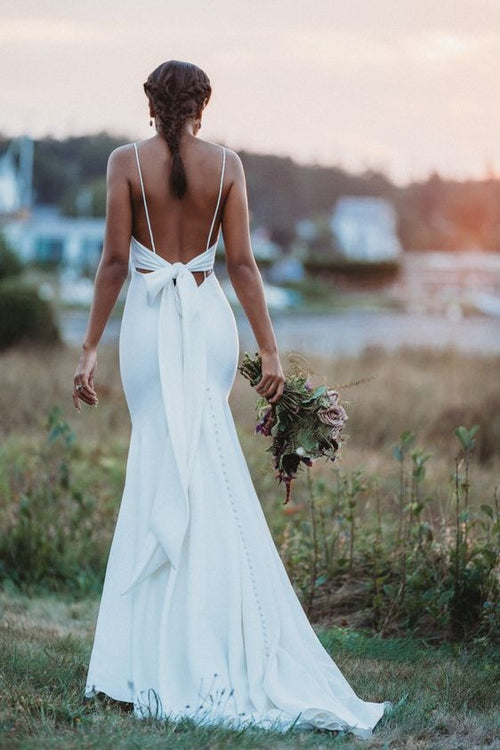 2021-simple-boho-wedding-dress-with-tied-back