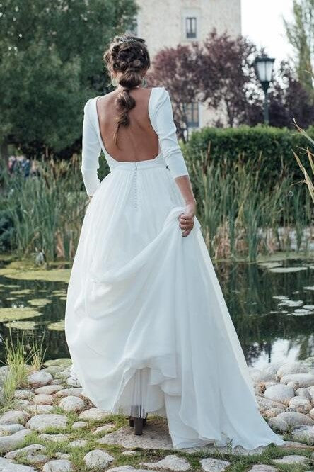 3-4-sleeveless-spandex-wedding-dresses-with-chiffon-skirt-1