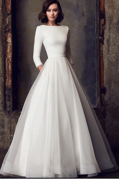 3-4-sleeves-modest-wedding-dress-for-bride-2021-2
