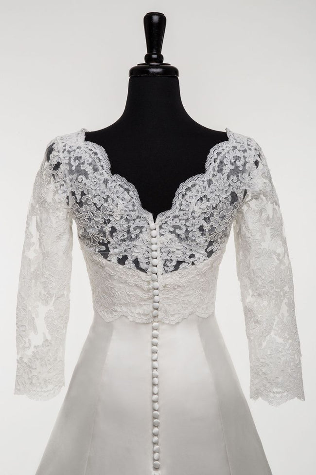 34-sleeve-bridal-lace-topper-wedding-jacket-with-v-back-1