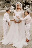 34-sleeves-lace-maternity-dress-for-photoshoot-tulle-skirt