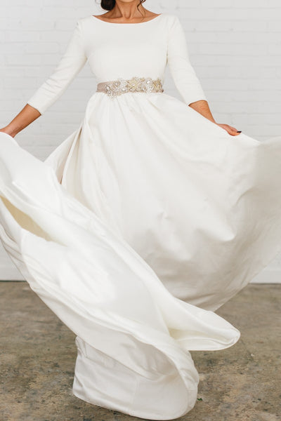 34-sleeves-satin-wedding-dresses-with-beaded-crystals-belt-3
