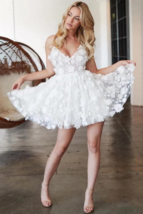 3d-floral-lace-white-homecoming-dresses-with-v-neckline