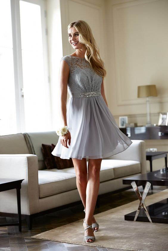 lace-chiffon-short-gray-cocktail-dresses
