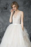 plunging-v-neck-illusion-lace-wedding-dress