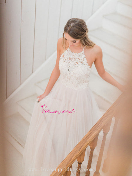 boho-wedding-dresses-with-tulle-skirt