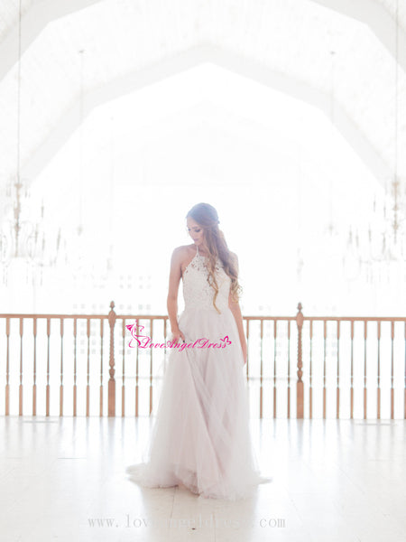 a-line-halter-wedding-dresses-with-tulle-skirt