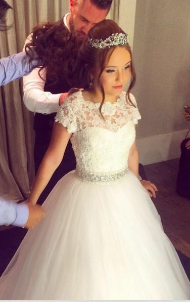 Lace Tulle Skirt Outdoor Wedding Gown Princess Bridal Dresses