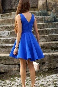 a-line-blue-satin-short-party-homecoming-dresses-under-$100-1