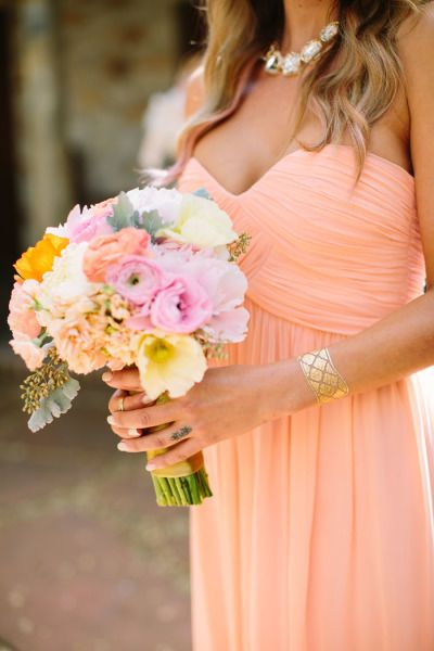 Deep V-neck Chiffon Short Bridesmaid Dress Under $100
