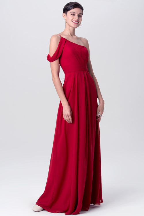 a-line-chiffon-red-one-shoulder-bridesmaid-dresses-long