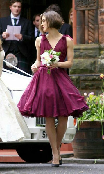 a-line-chiffon-v-neck-burgundy-bridesmaid-dresses-knee-length-1