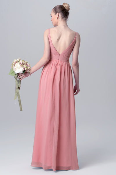 floor-length-chiffon-pink-wedding-guests-dresses