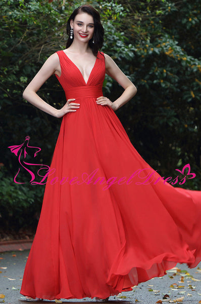 a-line-floor-length-v-neck-red-chiffon-long-prom-gowns